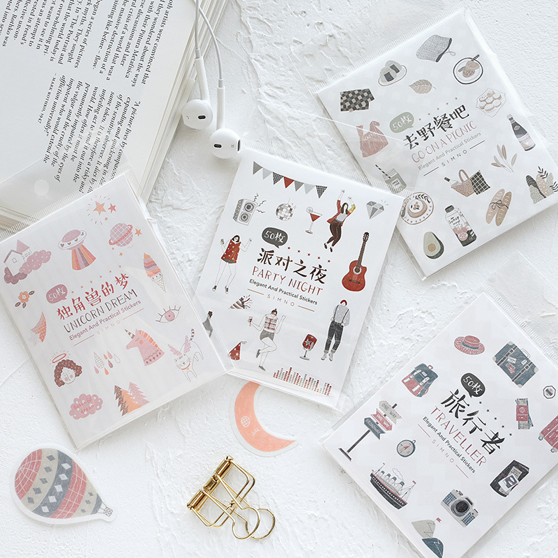Unicorn's Dream Travel Picnic Bullet Journal Decorative Stickers Scrapbooking Stick Label Diary Stationery Album Stickers