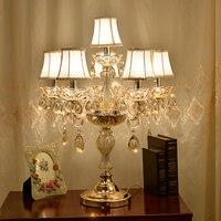 Moderne nachttischlampe kristall tischlampen für schlafzimmer luxus kristall tischlampe amerikanischen K9 luxus kristall dekoration lampe