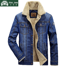 Plus Size M-6XL Fashion Denim Jacket Men Winter Wool Liner Warm Mens Jackets Brand Outwear