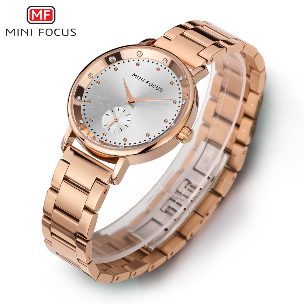 MINI FOCUS Fashion Quartz Watch Women Watches Ladies Girls Famous Brand Wrist Watch Female Clock Montre Femme Relogio MF0037L splendid brand new boys girls students time clock electronic digital lcd wrist sport watch