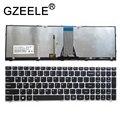 Новая американская клавиатура GZEELE для Lenovo IdeaPad 500-15ACZ 500-15ISK  клавиатура с подсветкой  серебристая