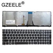 GZEELE nouveau clavier américain pour Lenovo IdeaPad 500 15ACZ 500 15ISK clavier rétro éclairé américain argent