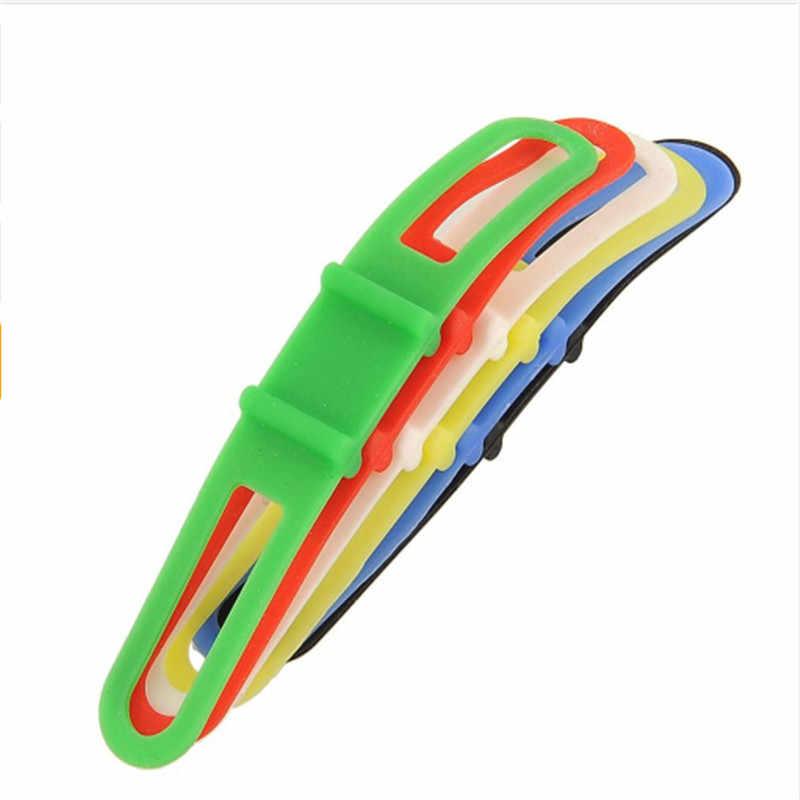 Nueva correa de silicona para bicicleta de montaña antorcha bandas de linterna para teléfono bandas elásticas para bicicleta soporte de montaje de luz accesorios de bicicleta