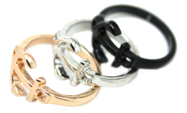 Anchor Nautical Top of Finger Over The Midi Tip Finger Above The Knuckle Punk Ring