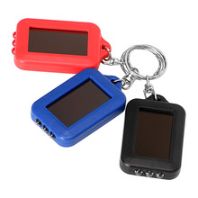 ITimo Rechargeable Keychain Light Emergency Light Solar Power Torch For Camping Hiking Portabe Lighting 3 LED Flashlight