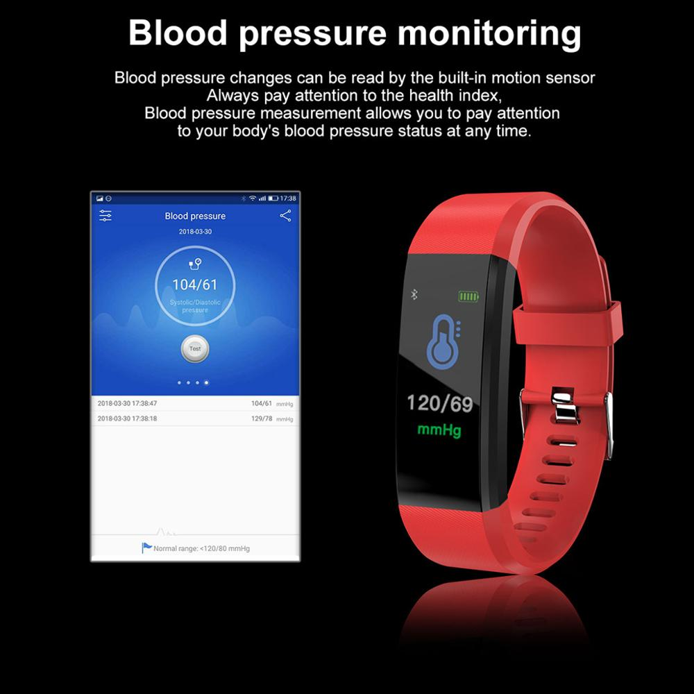 Image 4 - HORUG Smart Wristband Fitness Bracelet For Xiaomi Mi Band Smart Bracelet Blood Pressure Smart Band Pedometer Heart Rate Monitor-in Smart Wristbands from Consumer Electronics