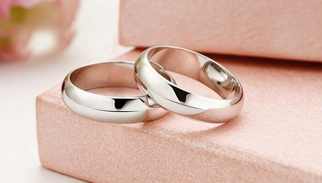 new 2014 genuine 925 Sterling Silver forever love couple rings