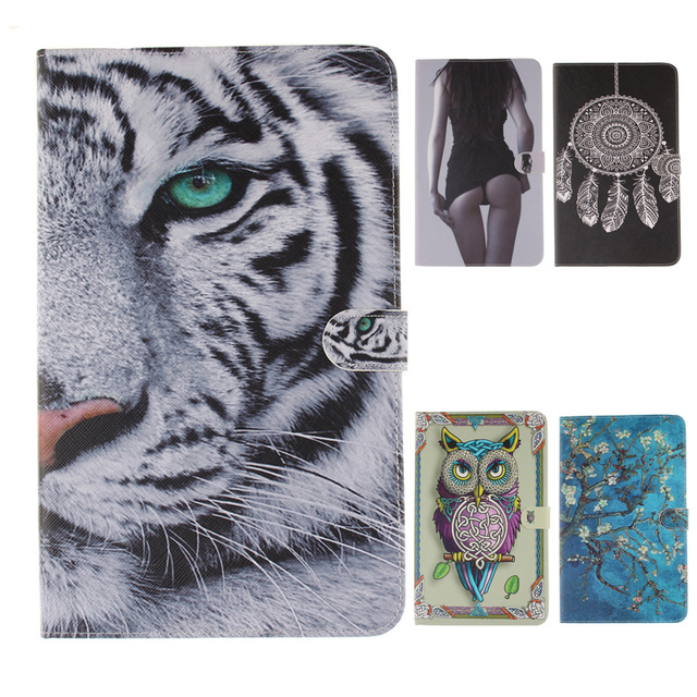 LUCKBUY Tiger Painted Ultra Slim Stand PU Leather Case Tablet Cover for Samsung  Galaxy Tab A T580 T585 T580N 10.1