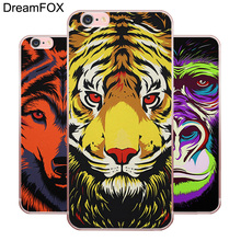 DREAMFOX L435 Aztec Owl Lion Cat Animal Soft TPU Silicone  Case Cover For Apple iPhone 8 X 7 6 6S Plus 5 5S SE 5C 4 4S