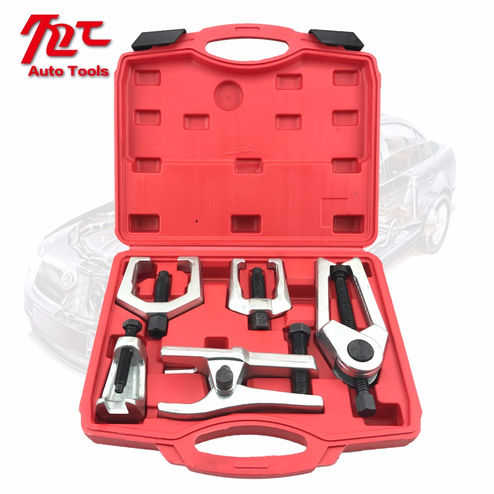 5pc Front End Service Tie Rod Ball Joint Separator Pitman Arm Puller Tool Set