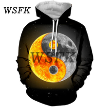 WSFK Mens Hoodie 3D Print hoodie Harajuku Casual Street Sweatshirt Men and Women Jacket Coat