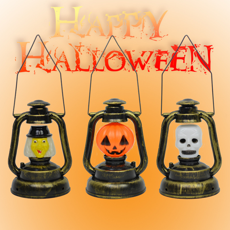 halloween decorations for the home halloween pumpkin sorceress handing retro night light gift package for kids