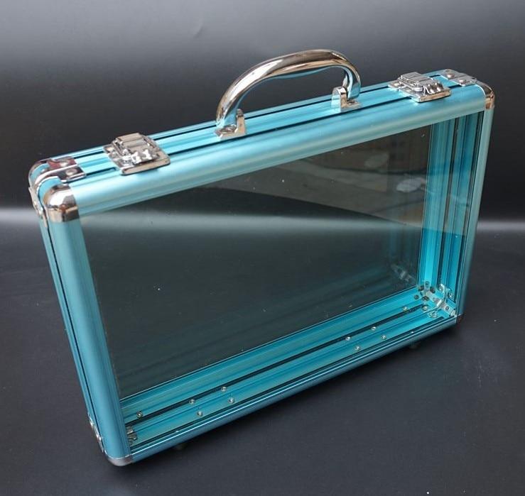 Briefcases Business OL Box Chip Handbag Aluminum Alloy  Hard Roll Pvc Transparent