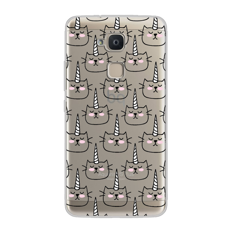 ciciber Cartoon Unicorn For BQ Aquaris C U2 U X5 V VS X2 X Lite Pro Plus E5 s E4 5 M5 M5 5 M4 5 Back Cover Soft TPU Phone Cases in Fitted Cases from Cellphones Telecommunications