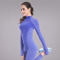 Kadın Hızlı Kuru Uzun Kollu Jimnastik salonu Koşu Eğitim Egzersiz T-Shirt Perakende Fiyat Çığlık Streç Yumuşak Spor Yoga Tops