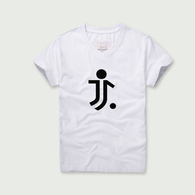 c903df53e38 2018 Summer Juventus Printing Tee Shirt Hot Sale Football Club V-Neck Tees  Men s Short-Sleeved T-Shirt Soccer Theme Tshirts