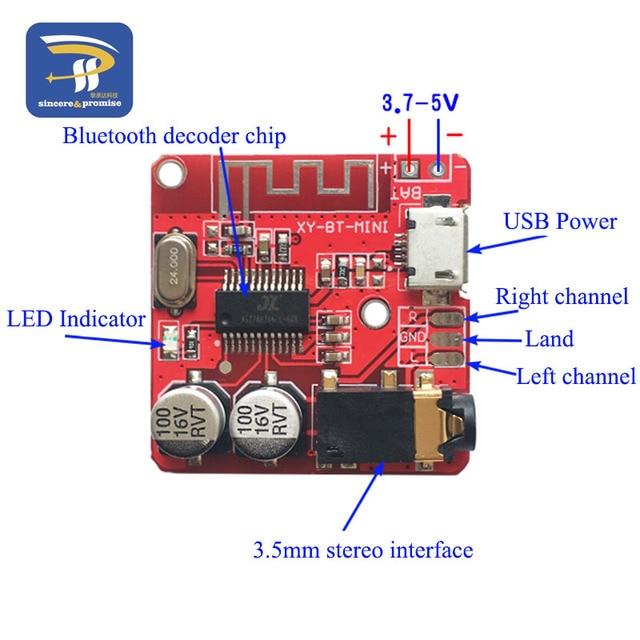 DIY Bluetooth Audio Receiver board Bluetooth 4.0 4.1 4.2 5.0 MP3 Lossless Decoder Board Wireless Stereo Music Module 3.7-5V 3
