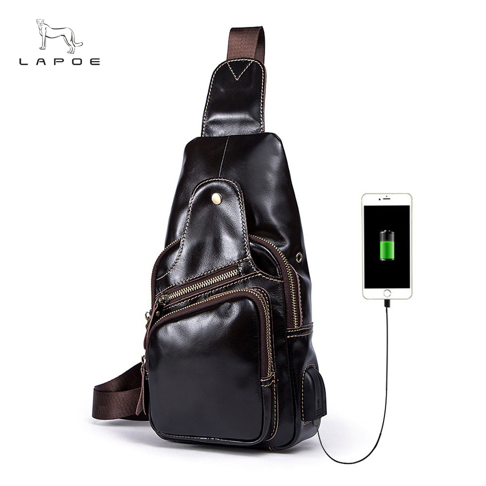 Men Bag Genuine Leather Casual Chest Bag Fashion Crossbody Shoulder Bag Famous Brand High Quality Messenger Bags Male Bolsos hot 2017 new arrival fashion leather men messenger bags high quality casual small chest packs vintage brown shoulder bags bolsos