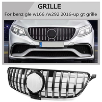 w166 w292 Grille black silver Emblem Front Bumper gt gtr Grill For benz w166 C292 gle gle coupe 2016 2017 2018 gt style