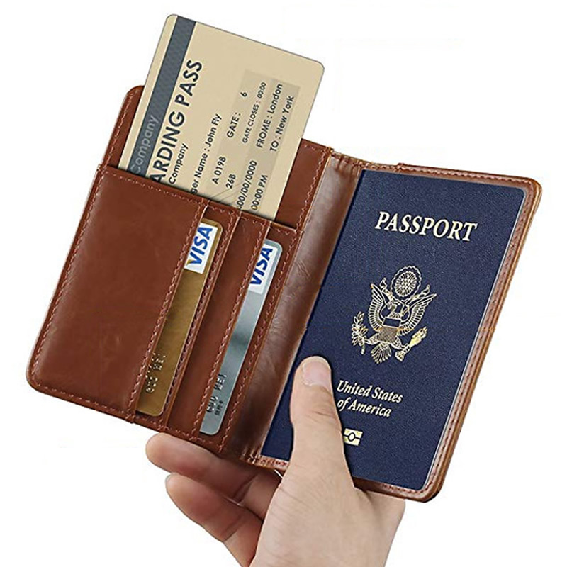 Polar Bears Of Various Colors Leather Passport Holder Cover Case Blocking Travel Wallet