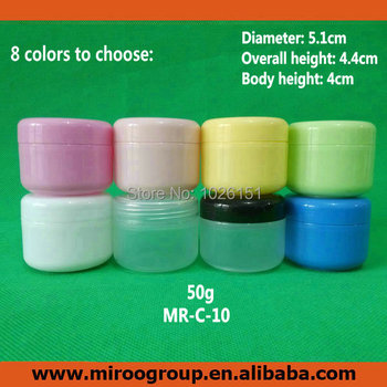 80PCS 50ml 50g jars with inner cap for cosmetic cream make up cosmetic jar refillable bottle Empty Bottle Wholesale,FreeShipping