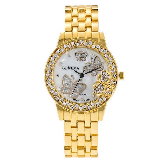 Zegarek damski Gold Butterfly różne kolory