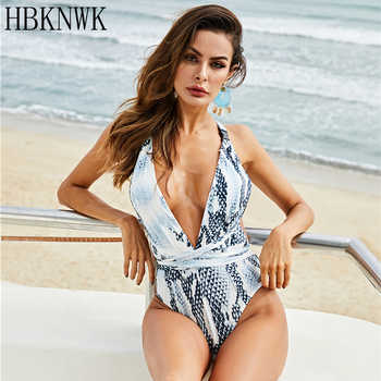 Sexy Women Deep V backless One-piece Swimsuit Plus Size Swimwear Summer Leopard Slim Bandage Bathing Suit Belt Swimsuit Monokini - DISCOUNT ITEM  39% OFF All Category