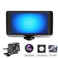 Shunwei dvr/dash камера lcd ips Двойной объектив Автомобильный видеорегистратор FHD 1080 P Dashboard камера 360 градусов для вождения DVR 5,20