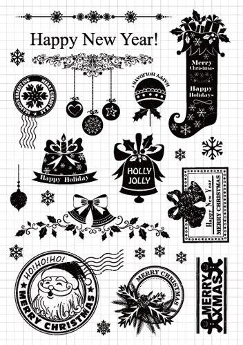 YPP ремесло Счастливого Рождества прозрачные силиконовые марки для DIY скрапбукинга/карты/Дети ремесла украшения поставки M08