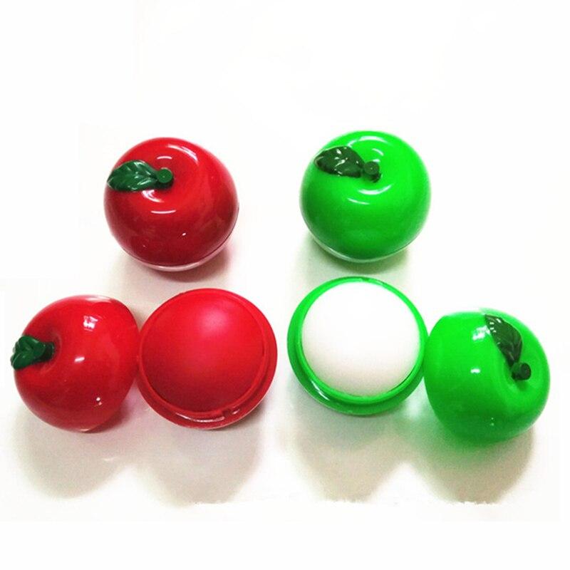 Nuevo hidratante bálsamo labial de manzana brillo de labios potenciador de color Natural planta orgánica esfera pomada Bola de Cola Lipbalm pintalabios embellecedor
