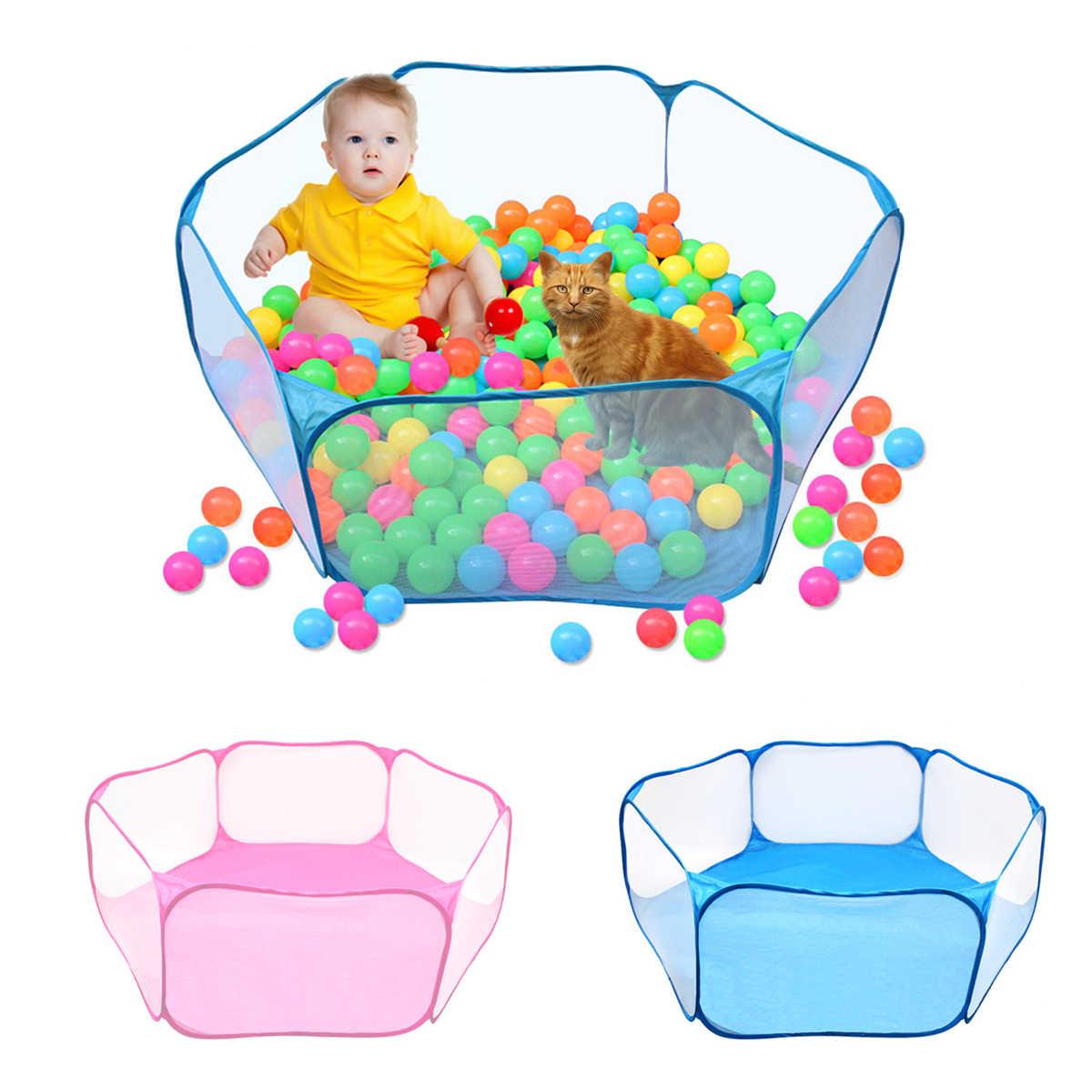 Hewan Peliharaan Boks Portable Membuka Indoor/Outdoor Kandang Hewan Kecil Tenda Permainan Pagar Taman Bermain untuk Hamster Chinchilla Guinea- babi