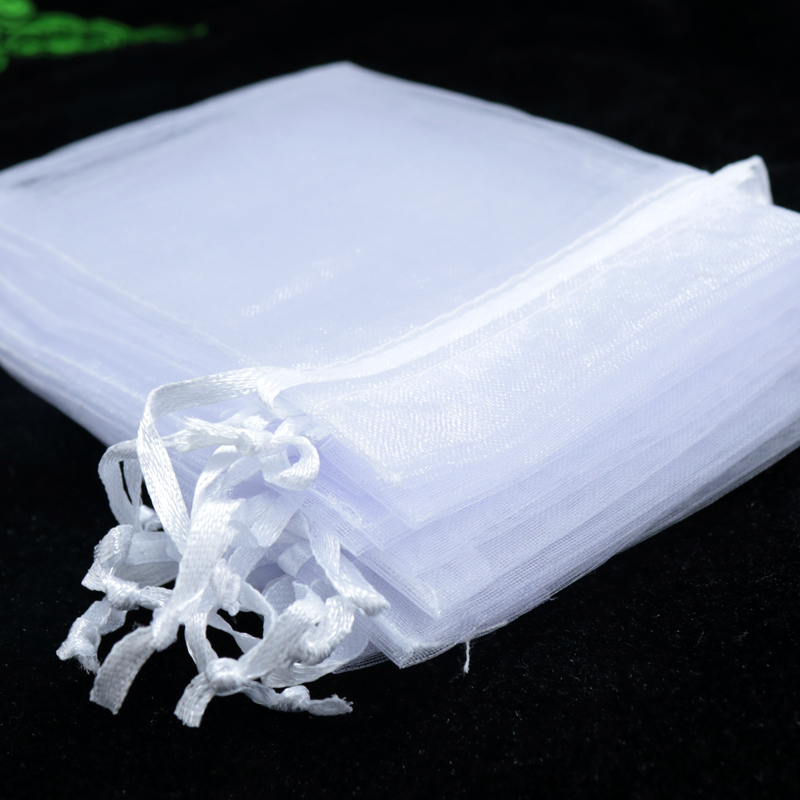 Drawable White Large Organza Bags