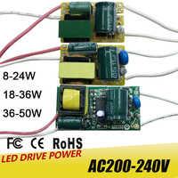 8-50W LED controlador de lámpara transformador de luz de entrada AC175-265V adaptador de fuente de alimentación 280mA-300mA corriente para bombilla de foco LED Chip