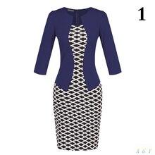 New Fashion Women Dress Sets  Formal Pencil Dress Suits Print Flower Plaid Office Wear Work Clothes Attachment  Belt CC2848