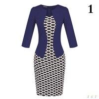 New Fashion Women Dress Sets Formal Pencil Dress Suits Print Flower Plaid Office Wear Work Clothes