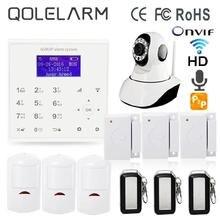 Polaco Español 433 MHz alarma de su casa gsm de banda cuádruple gprs WiFi sistemas de seguridad para el hogar gsm sistema de alarma de la cámara ip onvif cloud service