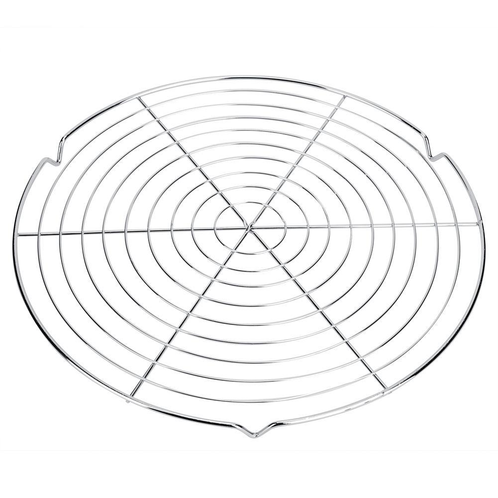 Круглый металлический шашлычный гриль-барбекю Чистая сетки стойки сетки Круглая Решетка пара чистая Кемпинг Пеший Туризм Открытый проволочная сетка ситечко инструмент