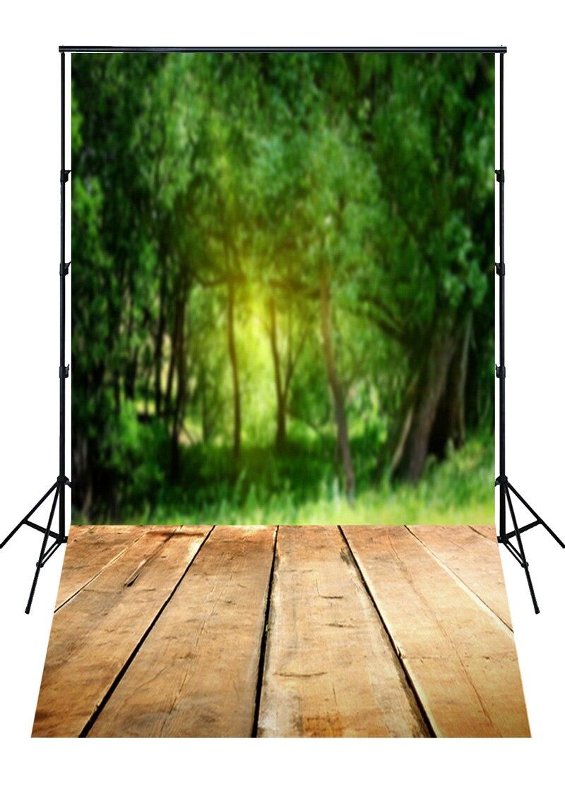 Vert forêt printemps décors sol combo nouveau-né mini fond photographique photo studio accessoires naturel scène contexte D-3725
