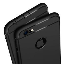 Ultra Mince Étui En Silicone pour iphone 7 6 6s 8 X Couverture Coque Bonbons Couleurs Noir Shell TPU Mat Cas de Téléphone pour iphone 7 8 plus