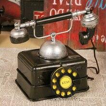 D modelo de teléfono Retro Vintage americano tiro accesorios decoración café escaparate diseño de decoración