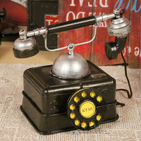 D American Retro Vintage telephone model shooting props decoration Cafe window cabinet decoration design