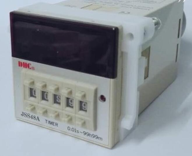Wenzhou Dahua time relay JSS48A can countdown 48X48 size 11 pins with a nest wenzhou dahua time relay dhc6a a3 power failure to maintain the call to continue with lcd backlight with backlight