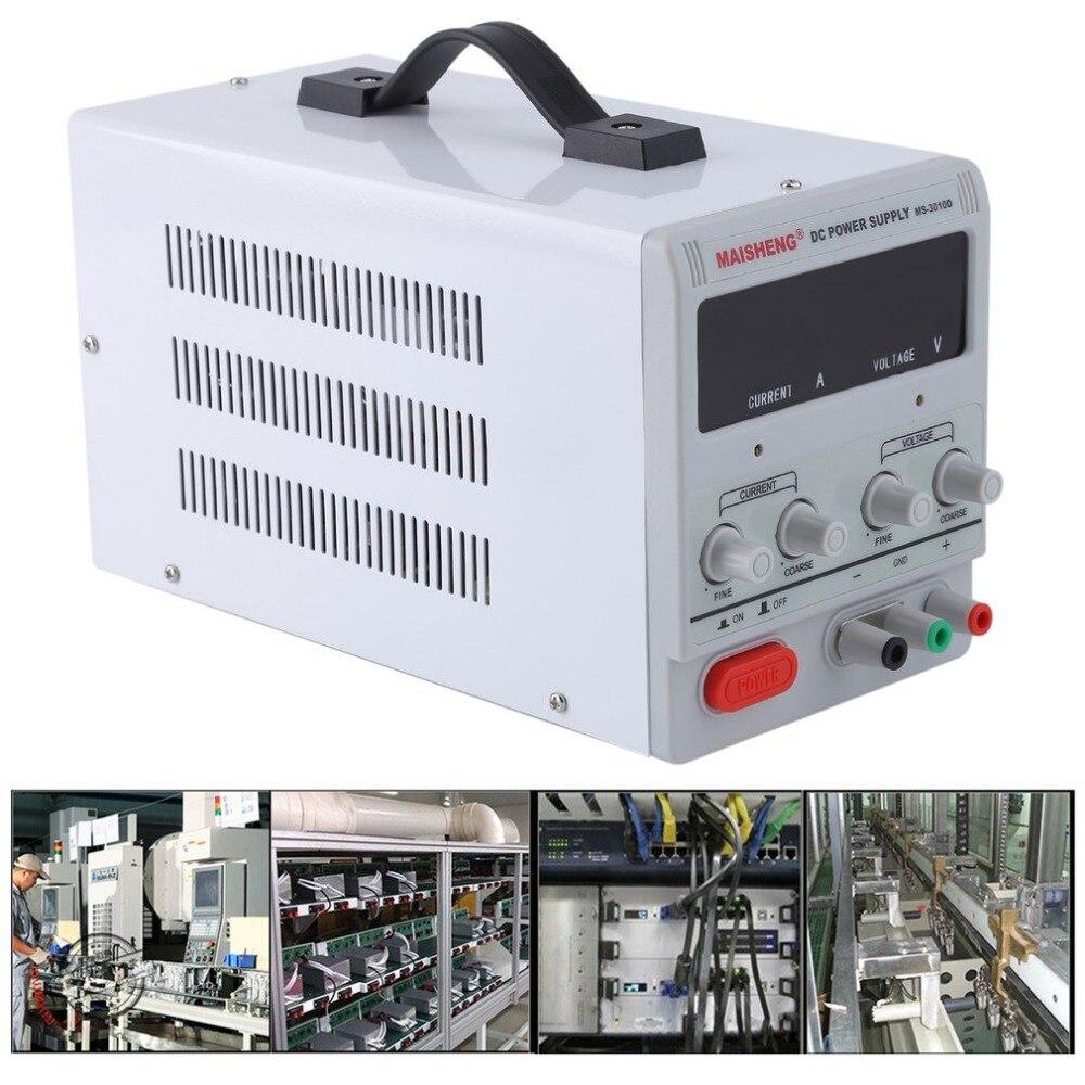 10A 0-30 V réglable stable DC alimentation précision Variable numérique avec Clip pour les centres de réparation de Test école laboratoire EU Plug
