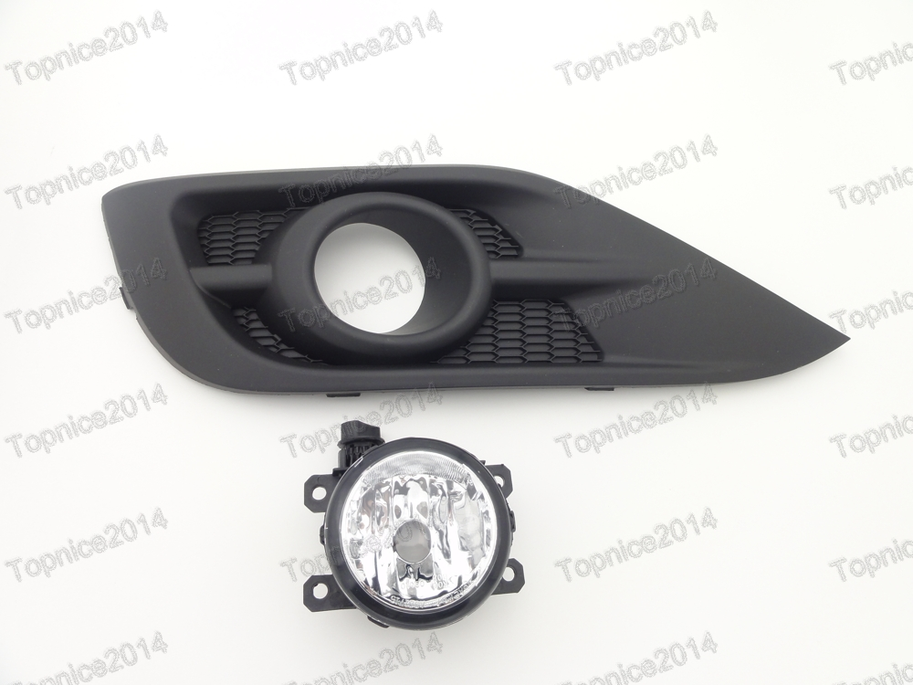 Set Left Side Clear Driving Fog Light Lamp & Cover Assembly For Honda CRV 2012-2014 1 set left side driving lamp front fog light and fog lamp cover bezel assembly for mazda cx 5 2013 2015