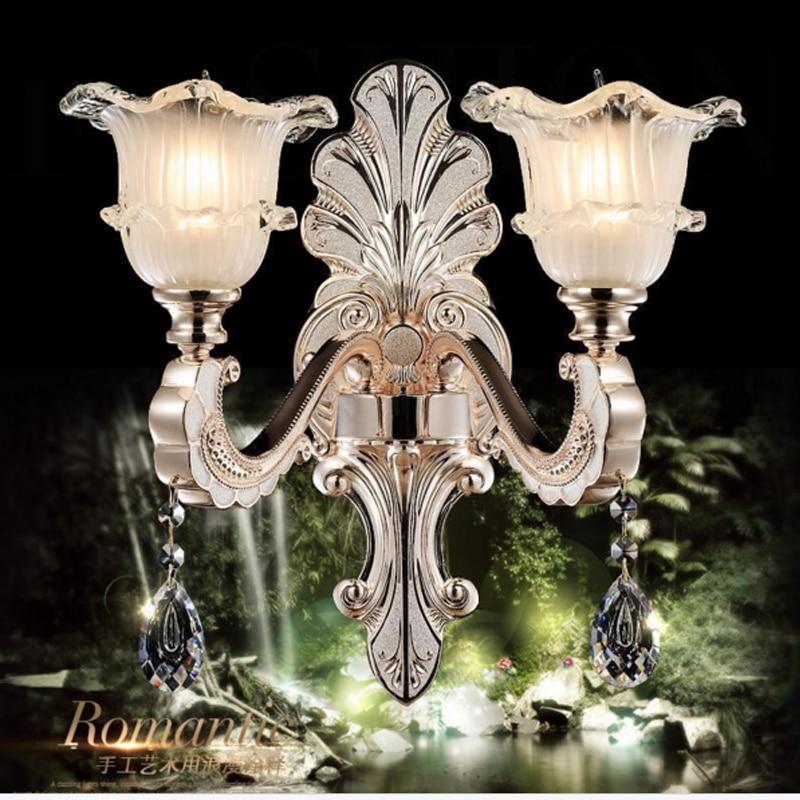 gold led k9 crystal wall sconce indoor studio living room ... on Bathroom Wall Sconce Lighting id=97266