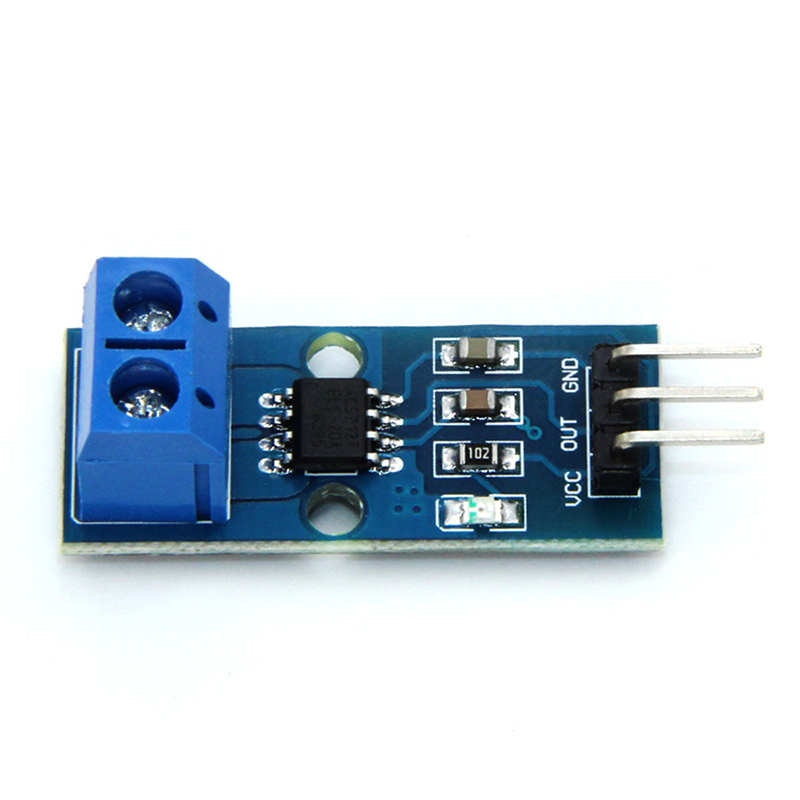 Hall Current Sensor Module Chip ACS712 ELCTR 20A  Model for Arduino with Size 27.2 X12 X14mm(China)