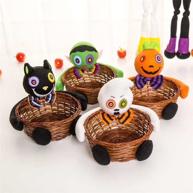 Abóboras de Halloween Bruxas Fantasmas Morcegos Cesta de Doces Cesta De Armazenamento Presente Do Partido Jul31 Transporte Da Gota preço de Fábrica Profissional