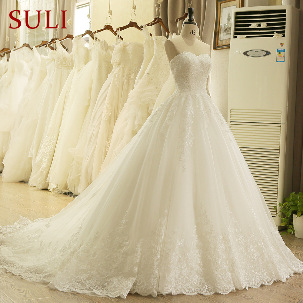 Sweetheart Hidden Zipper Off The Shoulder Lace Wedding Dress