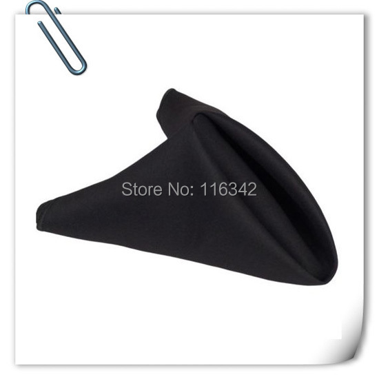 Big Discount 100pcs BLACK polyester napkin for table napkins dinner napkin FREE SHIPPING