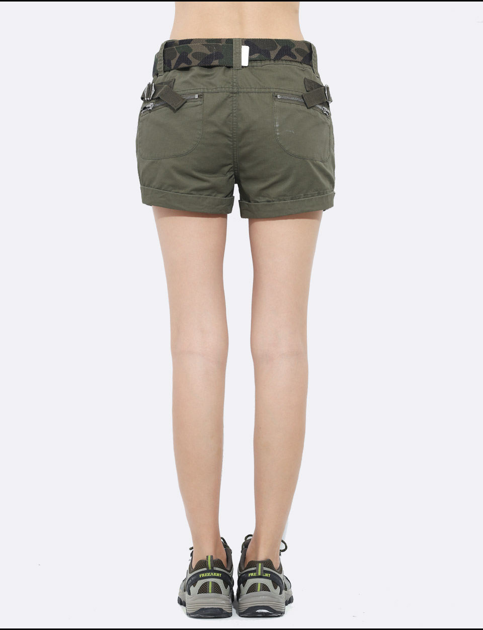 Brand Laides Shorts Women Casual Shorts Loose Pockets Zipper Military Army Green Large Summer Ladies Shorts Outdoors Plus Size 11